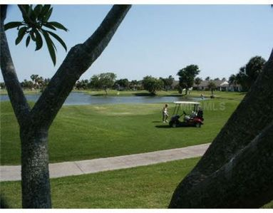 View from balcony of Golf course. Play golf everyday at your door.  Fees apply.