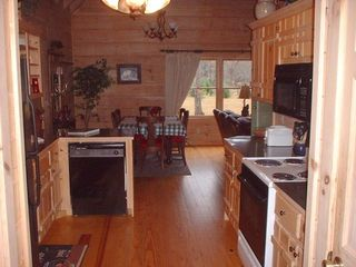 Blue Ridge cabin photo - Kitchen Area Looking Toward Dining Area