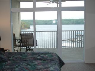 Osage Beach condo photo - Lake view from master bedroom
