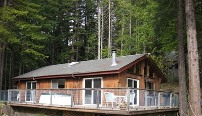 Main House with Wrap Around Deck and Hot Tub