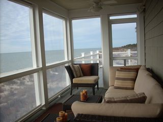 Cape Charles estate photo - Lounge or nap outside on the screen porch while listening to the waves.