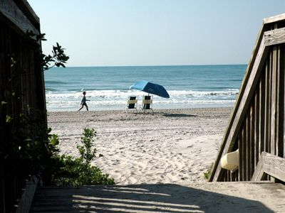 A beach access off the resort boardwalk