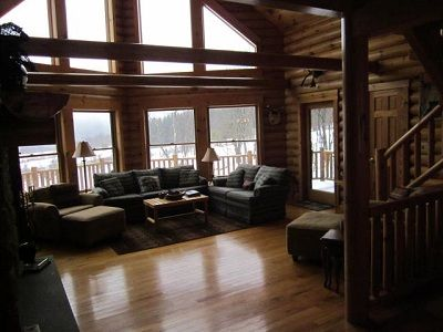 Andes cabin rental - Open and spacious living room