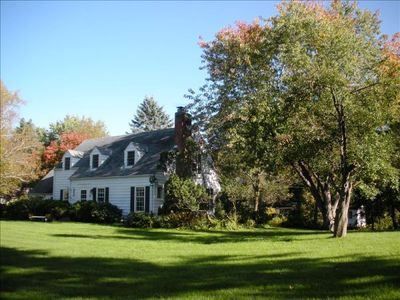 Minnetonka house rental - Minnetonka Cape Cod Charmer from west with fall colors