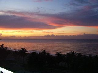 Isla Verde condo photo - Sunset view from my large balcony of the beach and ocean just below