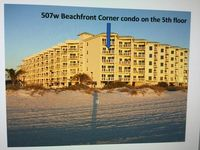 Sunset Vistas Beachfront Resort 100%Direct GulfFront Luxury Corner unit 2BR/2Bat