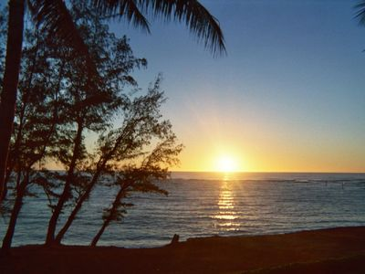 Kapaa condo rental - Sunrise from lanai