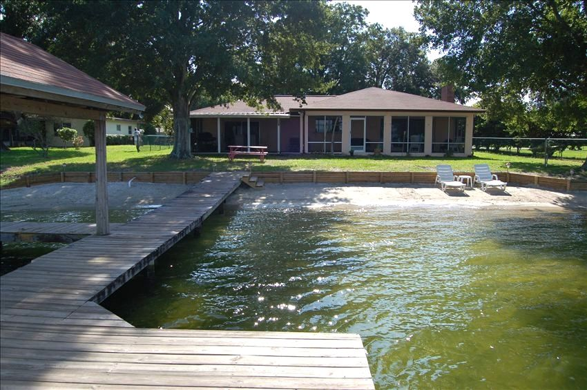 lakefront home with 90 feet of beach on lake vrbo