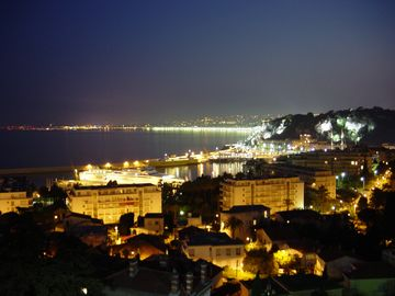 The bright lights of Nice overlooking the bay!
