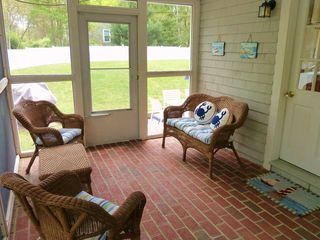 Yarmouth house photo - Sitting area on screened in porch