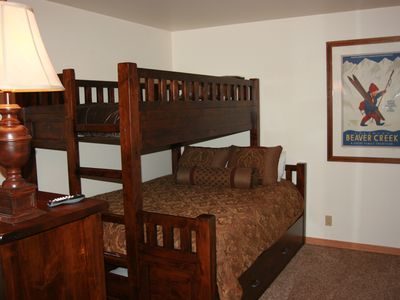 Second bedroom has a twin (XL Size) over queen with a pull out twin trundle.