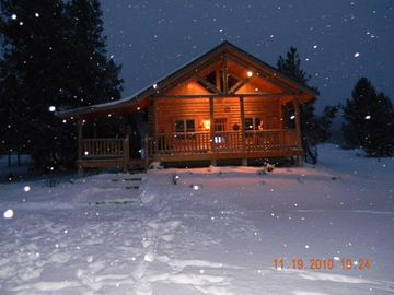 Georgetown Lake cabin rental - Beautiful Winter Evening