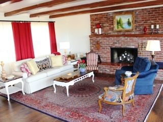Fallbrook house photo - Comfortable living room with fireplace that looks out to the beautiful view