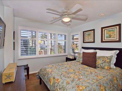 La Jolla house rental - 1st floor guest suite #1 with queen size bed and flat screen TV.