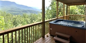 Gatlinburg rental w Hot Tub, Lights, Waterfall, Awesome Smoky Mountain Views
