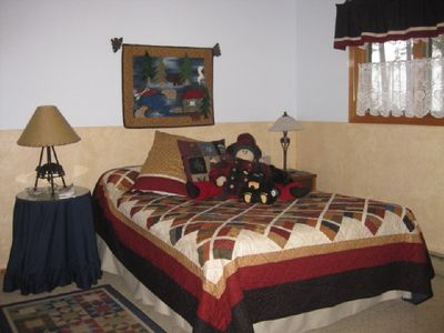 Somers house rental - Bedroom 1 (of three in lower level)