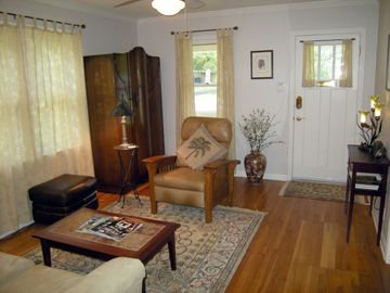 The house is furnished with antiques perfect for the home's 1940's birthdate.