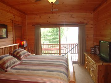 2nd Master King Suite! Overlooks lake and mountains.