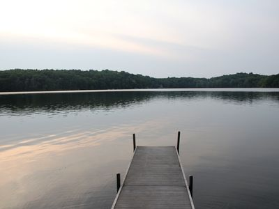 View of Crooked Lake from the dock