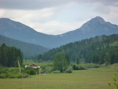 Bozeman cabin rental - Overlooking the Property toward Bridger Mountain's Ross Peak