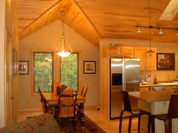 Log Furniture, Gourmet Kitchen, and cozy dining area...