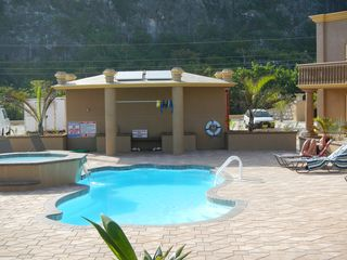 Cayman Brac townhome photo - .Lounging around the pool.