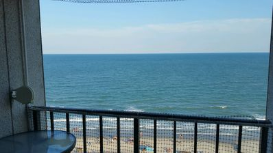 What a view from the ocean front balcony!