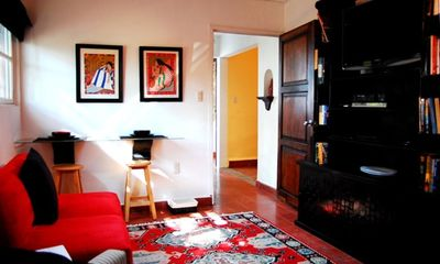 Cuernavaca bungalow rental - BUNGALOW TV ROOM (WITH FLATSCREEN TV & CABLE)
