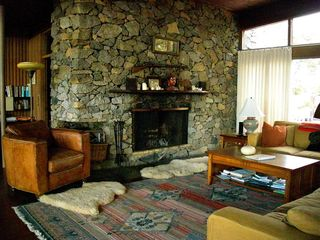 Chilmark house photo - Fireplace in Living Room