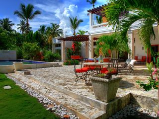 Las Terrenas house photo - Terrace, pool, house