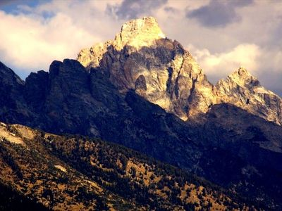 Telephoto view of Grand Teton from Cabin property (photo by Marlon Taylor)