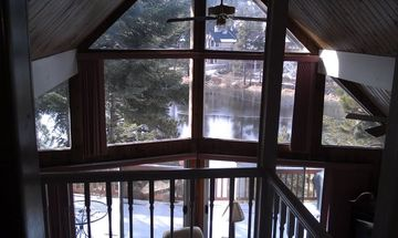 Lake Arrowhead house rental - View of lake from upstairs