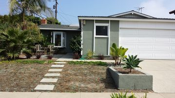 Surfside house rental - landscape has grown in now. cute home on quiet street .walk to beach/main st