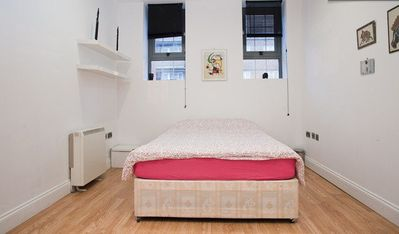 Flat 1 - Bedroom part 2 with queen size bed