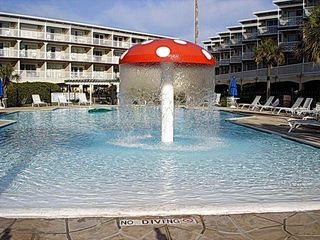 Galveston condo photo - Kids love the mushroom pool.