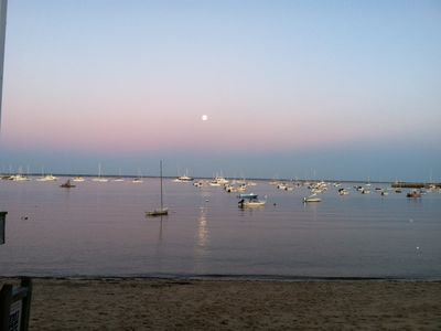 Provincetown Bay is just a block away