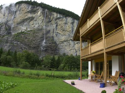 Ground floor with waterfall and valley views
