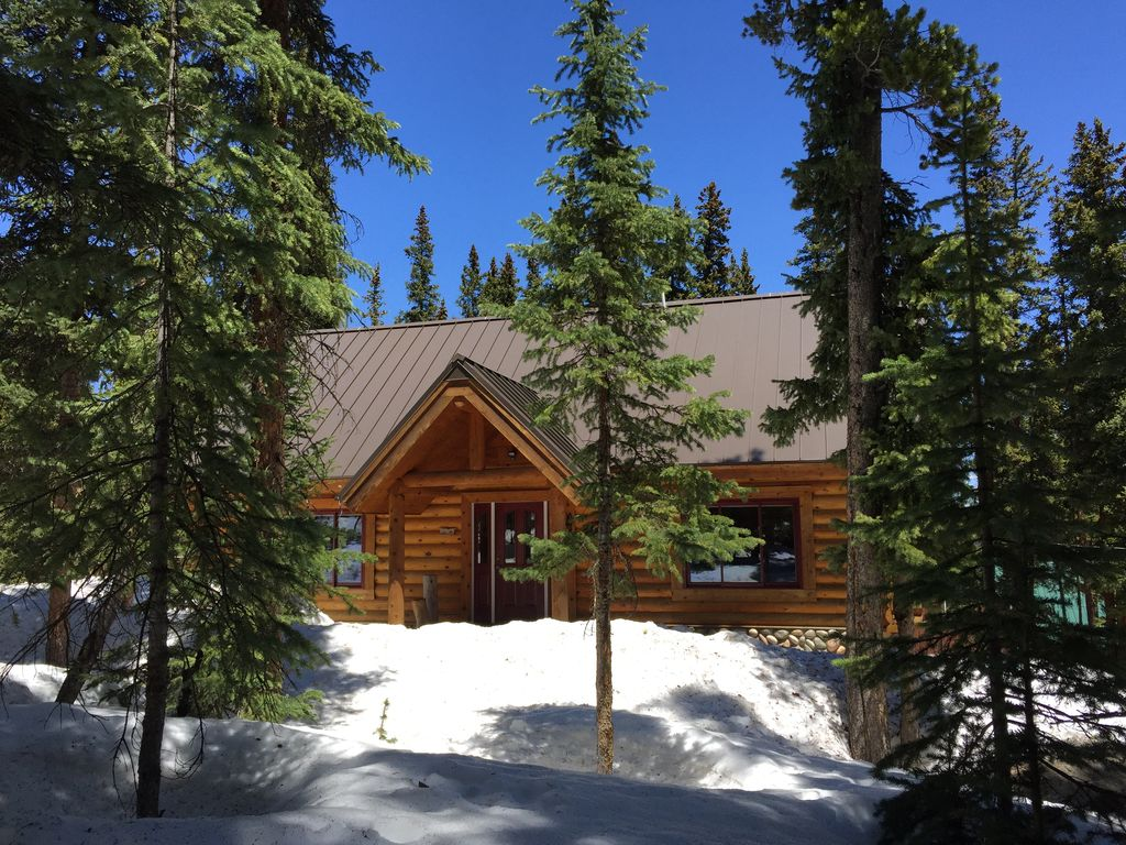 New Listing Breckenridge Log Cabin In The Woods Vrbo