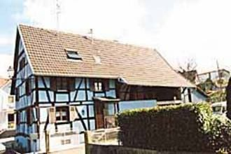 semi-detached timber frame house in the Sundgau valley
