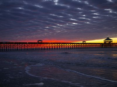 Sunrise at Folly Pier--200 steps from the house