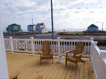 peaceful views of the gulf from our spacious 12' x 24' deck 300' from the OCEAN!