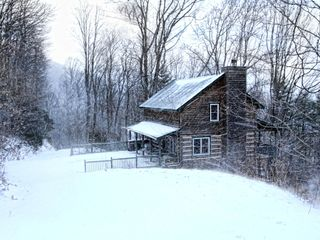 Boone cabin photo - Appalachian Dream after a snowfall allows for sledding right outside your door