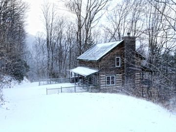 Boone cabin rental - Appalachian Dream after a snowfall allows for sledding right outside your door