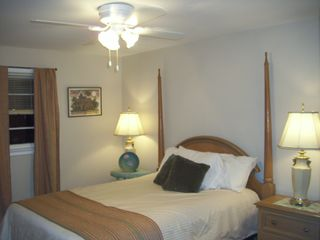 Colonial Beach cottage photo - 2nd Bedroom, the Keywest room with queen size bed