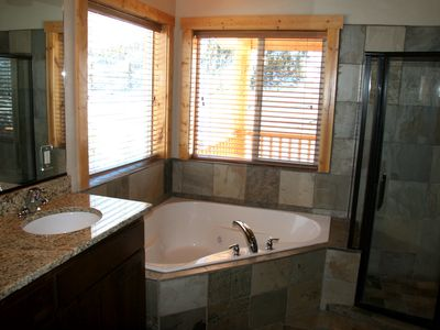 Master bath with jetted tub and shower