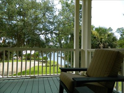 Steinhatchee house rental - View of river from our front porch.