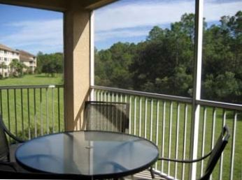Lehigh Acres condo rental - Lanai View with Preserve in background