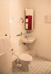 Large, clean bathroom with shower and fresh white towels included - Pankow (Prenzlauer Berg, Weissensee) apartment vacation rental photo