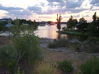 Granite Shoals house photo - Sunset View from Lakside Patio.