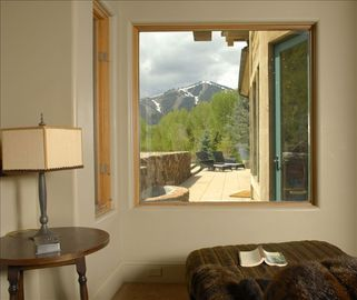 View of Baldy from Master bedroom